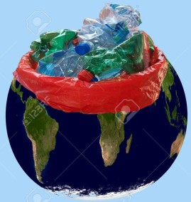 7451308-Ecology-The-planet-malate-of-pollution-and-submerged-by-waste-Stock-Photo
